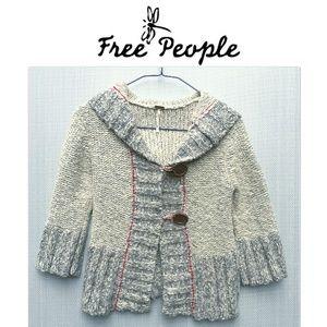 Free People, cropped & hoodie cardigan